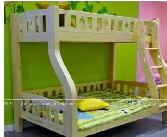 儿童子母床松木堡双层实木王国上下床高低松木架子床